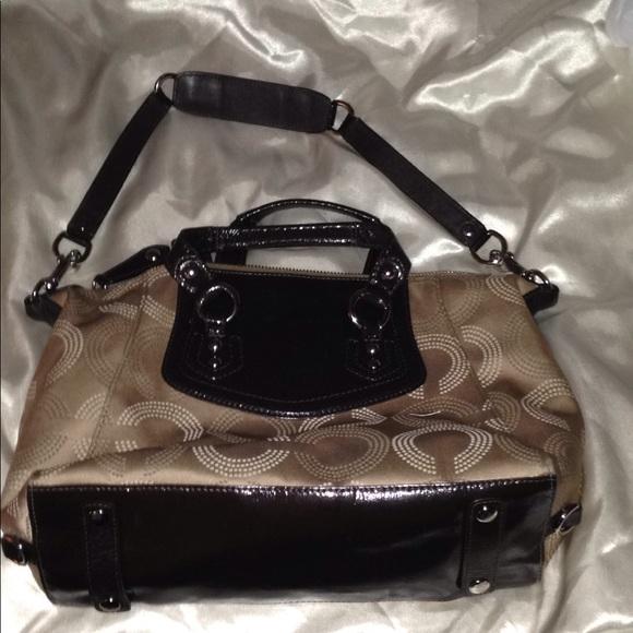 4c316fceceb Coach Handbags - COACH F20027 Ashley Dotted Op Art Satchel
